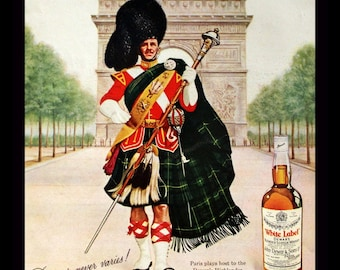 1966 Dewar's White Label Scotch Ad - Blended Scotch Whiskey - Whisky - Scottish - Vintage Retro Beer & Liquor Advertising