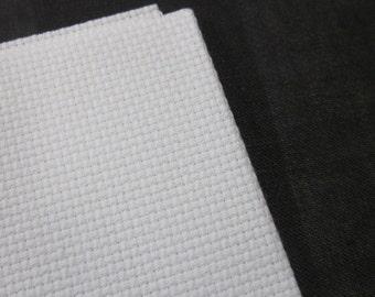 White Aida Fabric 16 Count, 12 x 18 inches
