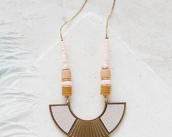 Collier, collier de déclaration, Long collier de perles, collier, collier Long, collier Bohème, collier glands à frange