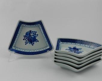 Set of six serve plates - Aluminia Kopenhaga