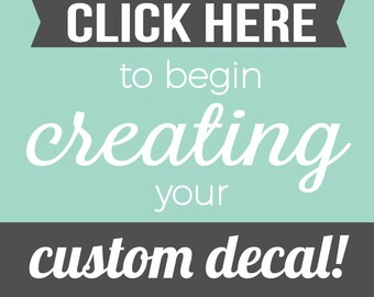 More colors. Custom Wall Decal - Custom Wall Decals - Create your own ...  sc 1 st  Etsy & Custom wall decals | Etsy