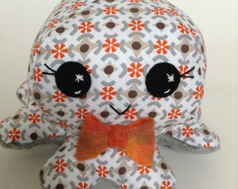 Baby toy , octopus toy , toddler toy , soft toy , softie , handmade toy ,