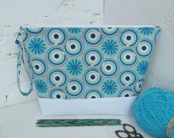 Project bag for knitting, Zippered bag, Yarn bag, Sock knitting bag, Crochet bag, Knitting bag, Sock project bag, Yarn storage bag