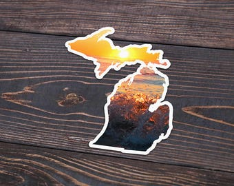 Great Lakes Sunset Michigan Decal