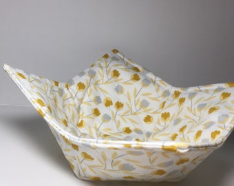 Bowl Cozy- white with tulips