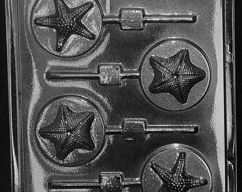 LOPN-055 - Starfish Chocolate Lollipop Mold