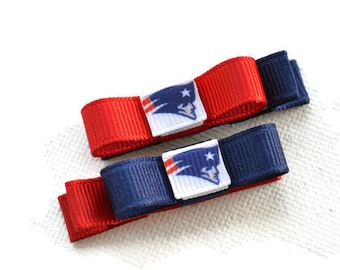 New England Patriots Hair Clips,  Patriots baby, Patriots hair bows, Patriots stocking stuffer, hair clips for girls, toddler hair clips