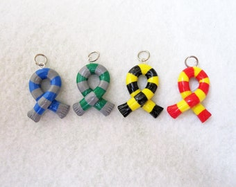 Remember Your Hogwarts Harry Potter House Ribbon Scarf Charm