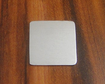 """5 Deburred 18G Aluminum 1"""" inch X 1"""" Rounded Corner SQUARE Shaped Stamping Blanks"""