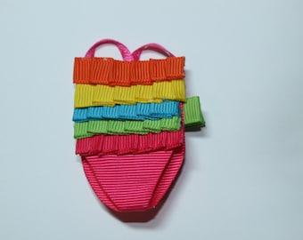 Swim suit hair clip