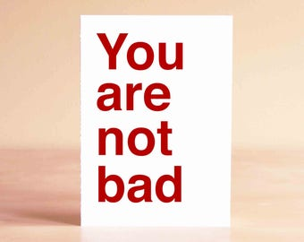 Funny Fathers Day Card - Husband Fathers Day Gift - Gifts Anniversary - Funny Anniversary Card - Funny Valentine Card - You are not bad