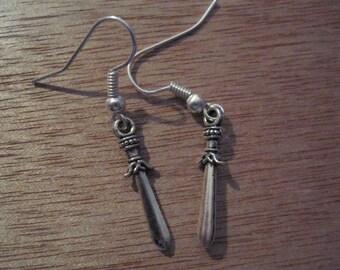 Sword Earrings, Sword Jewellery, Weapronry Earrings, Weapronry Jewellery, Fantasy Earrings