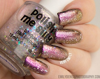 Multichrome Topper - BOMBSHELL - Color Changing Polish : Custom-Blended Glitter Nail Polish / Indie Lacquer / Polish Me Silly