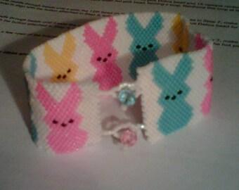 Easter Bunny Peyote Bracelet