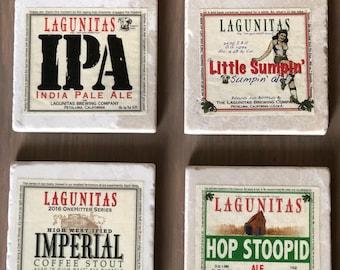 Lagunitas Beer Label Coasters (set of 4)