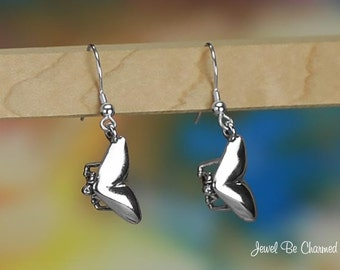 Sterling Silver Hang Gliding Earrings Pierced Solid .925 Hang Gliders