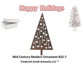 822-7 Mid Century Modern Christmas Ornament