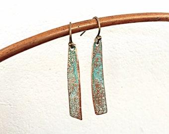 Copper Earrings, Copper Jewelry, Personalized Gift for her, Gift for Girlfriend, Minimalist Jewelry, Minimalist Earrings,