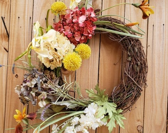 Hydrangea Wreath,Home Decor,Fall Wreath ,Summer Wreath, Summer Decor