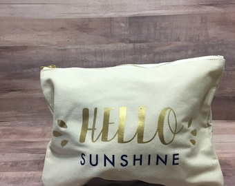 Hello Sunshine Personalized Tote Bag and Wet Dry Bag