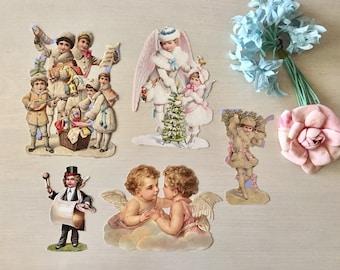 Vintage Christmas Die Cuts - Scrapbooking - Gift Tags - Cards