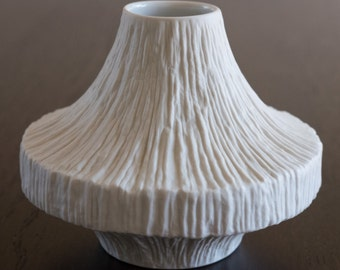 Rare Vintage Heinrich & Co. Midcentury Modern Matte White Vase - PERFECT CONDITION