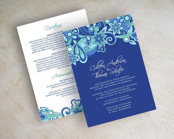 Royal Wedding Invitation Wording: Items Similar To Paisley Wedding Invitation, Paisley