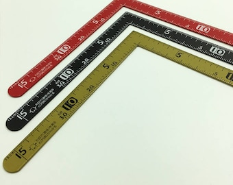 Handmade DIP Leather imported Japanese imported ruler size small ruler size measuring ruler 30x15cm