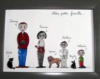 Frame family personalized perlinpinpot's. the family