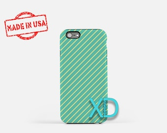 Seagreen Phone Case, Seagreen iPhone Case, Yellow Line iPhone 7 Case, Green, Yellow Line iPhone 8 Case, Seagreen Tough Case, Clear Case