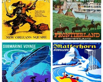 Disneyland Vintage Poster Coasters - YOUR CHOICE
