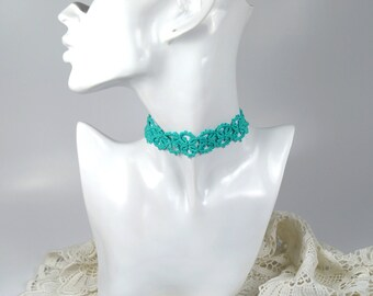 Necklace Victorian, Necklace mint, lace necklace, goiter tape, tattoo choker, grunge outfit, birthday present, tedding jewelry,