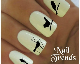 Nail Decal  20 Bird   Vinyl Adhesive Decals Nail Tattoos  Nail Art