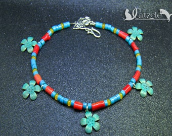 Beaded Necklace, Gift for Her, Multy- color Necklace, Charm Necklace