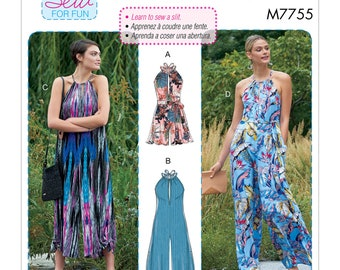 McCall's Sewing Pattern M7755 Misses' Romper, Jumpsuits and Belt