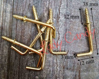 Lot 10 hinges screw fixing clip for mirror / #120065 /Cadre frame wall hanging decoration