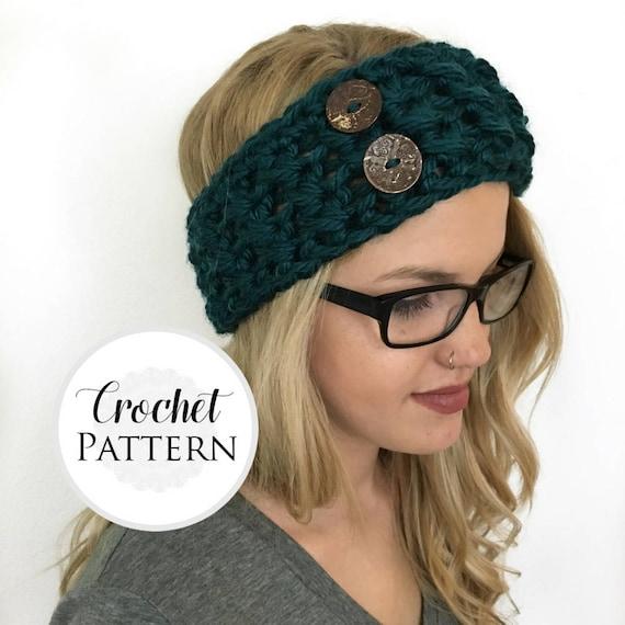 Chunky Headband Crochet Pattern Headband Pattern Ear