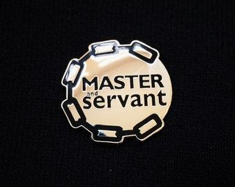 Handmade Master & Servant Depeche Mode Hard Enamel Lapel Pin