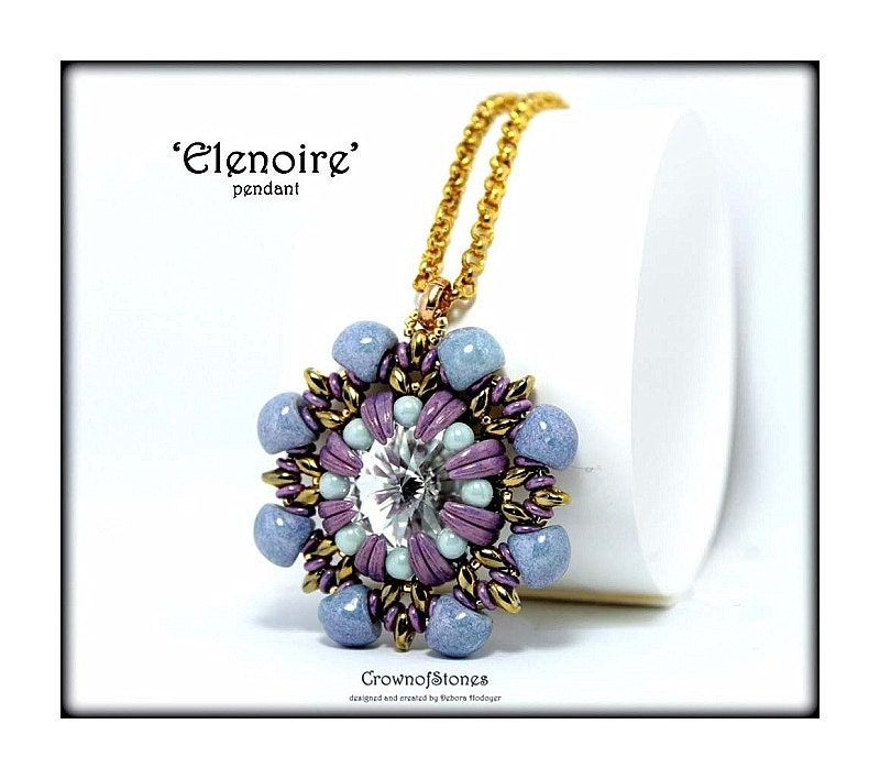 Bead pattern elenoire pendant with superduo swarovski zoom mozeypictures Images