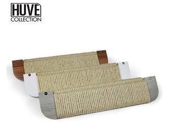 Modern horizontal scratching posts for cats by HUVE collection