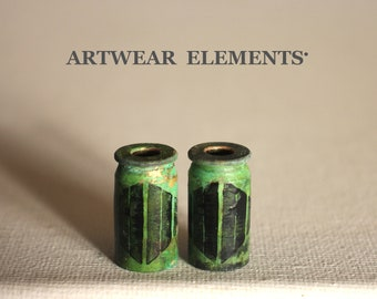 Bullet Shells, Beetle Bug, Bug Art Beads, Bead Caps, Primitive Art Shells, Sz 45, Primitive Casings, Tassel Bead Caps, ArtWear Elements