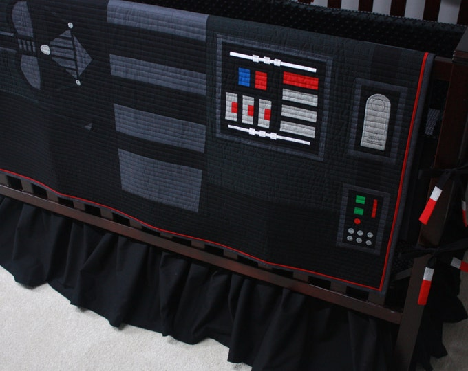 LAST ONE!!  Star Wars Baby Bedding--Darth Vader--Custom Crib Bedding-MTO