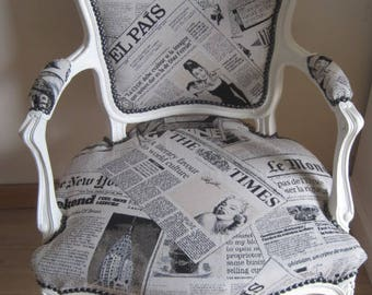 Louis XV repaints style bergere Chair