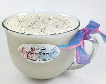 Gender Reveal Candle (Hearts. 60+ Scents to choose from)