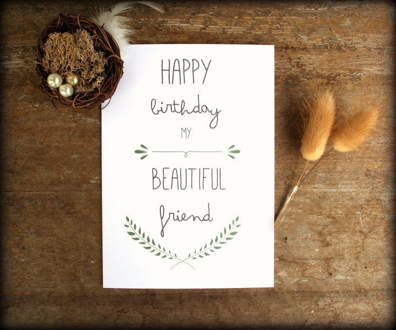 Printable Best Friend Birthday card Friend Birthday Card