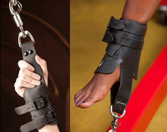 Easy Wear (Suspension) Leather Wrist and Ankle Cuffs Set