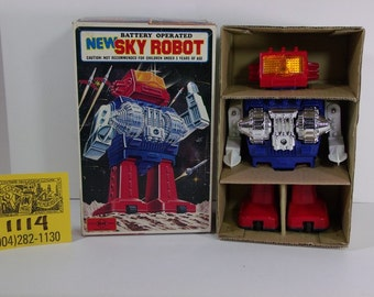 1970's NewSky Robot and box w/inserts
