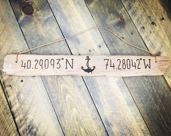 Anchor Nautical Sign | Nautical Anchor Home Decor Personalized Anchor Beach House Boat House Sailing Sailor Home Anchor Couple Sailboat Gift