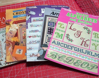 5 Cross Stitch Pattern Leaflets & Books, Some Vintage