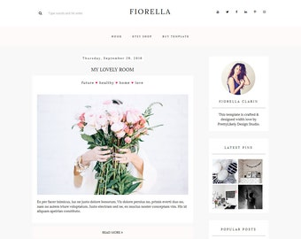 Blogger Template - Responsive Blogger Theme - Premade Blogger Template - Blog Template - Blogger theme - FIORELLA - Instant Download